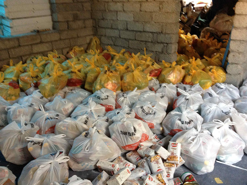 Bags of aid