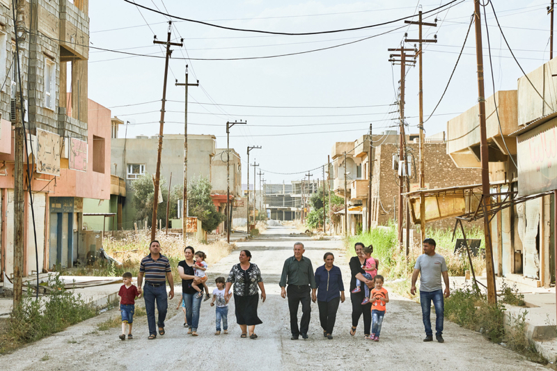 Family of Mechanics walk through Qaragosh, Nineveh Plains