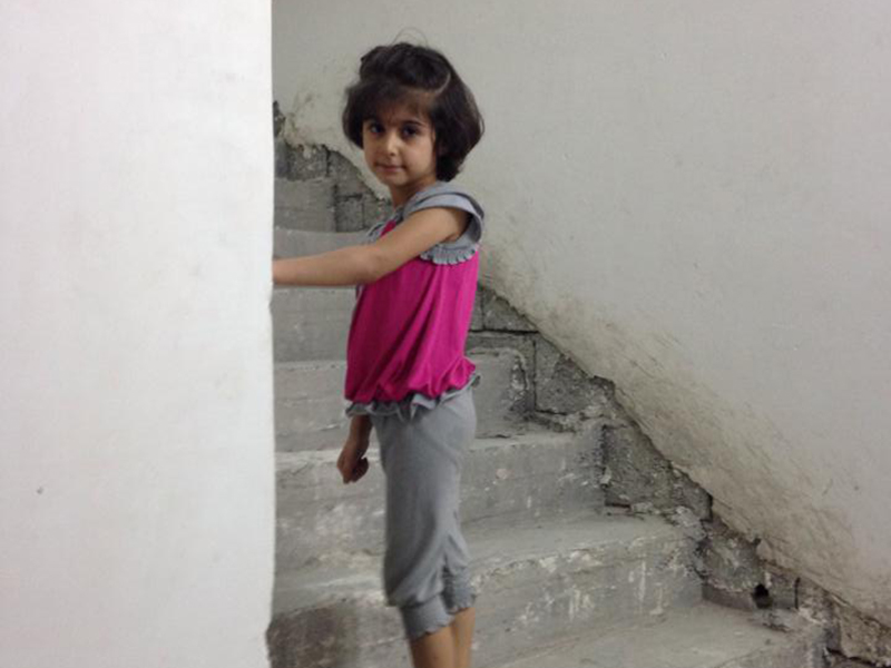 Christian girl now a refugee in Erbil