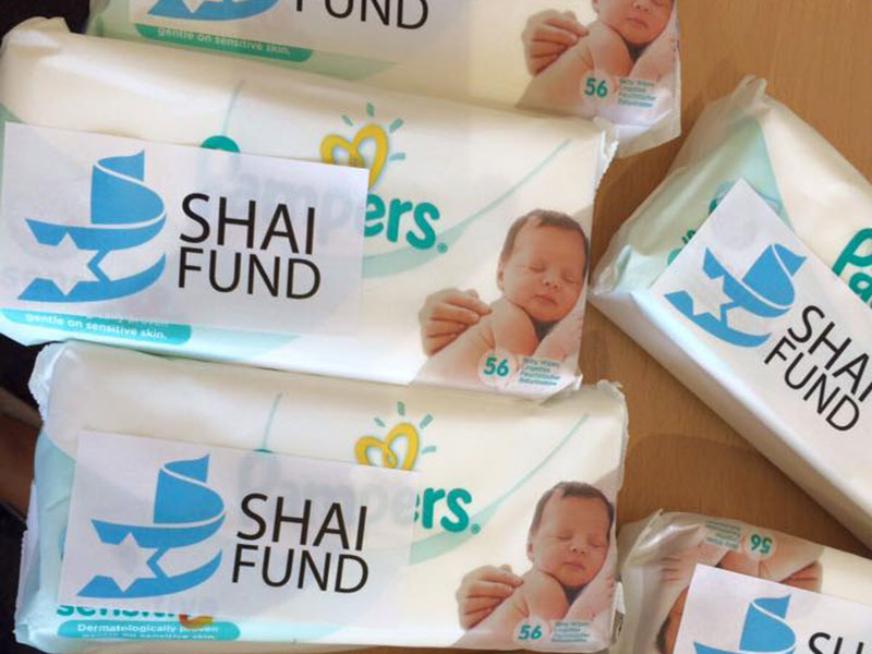 Diapers for Syrian refugee families