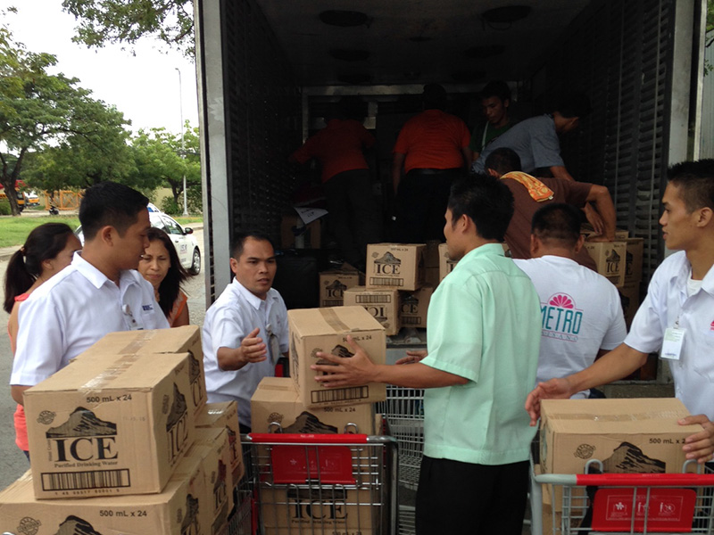 Loading the truck for Shai Fund relief operation in the Philippines