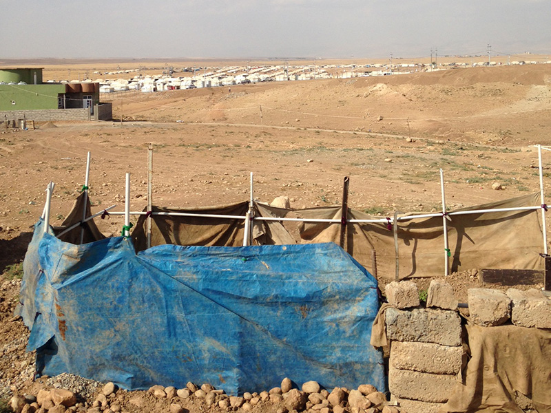 Yazidi camp in Duhuk